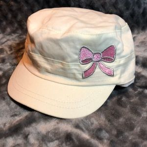 White military style hat